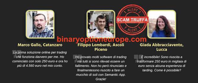 semantic app recensioni false truffa