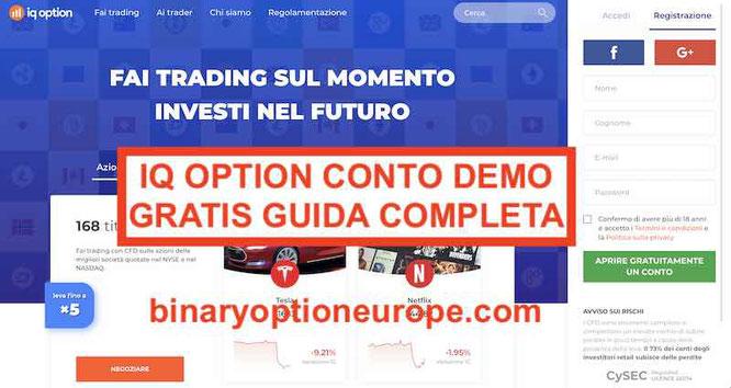 iq option conto demo gratis forex cfd