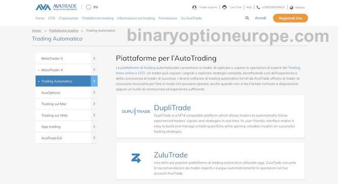 trading automatico bitcoin avatrade