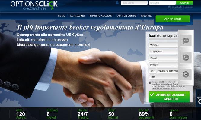 optionsclick regolamentazione cysec consob mifid sicuro affidabile certificato
