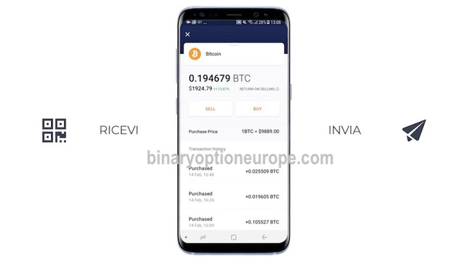 hodly app android iphone portafoglio criptovalute iq option