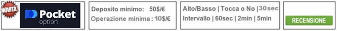 pocketoption broker recensione opinioni opzioni binarie