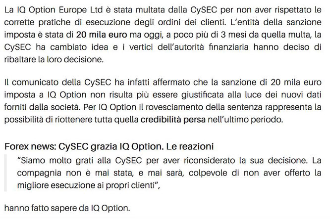 cysec multa iqoption