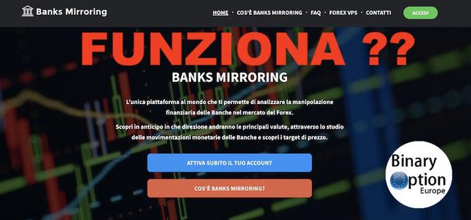 banks mirroring funziona