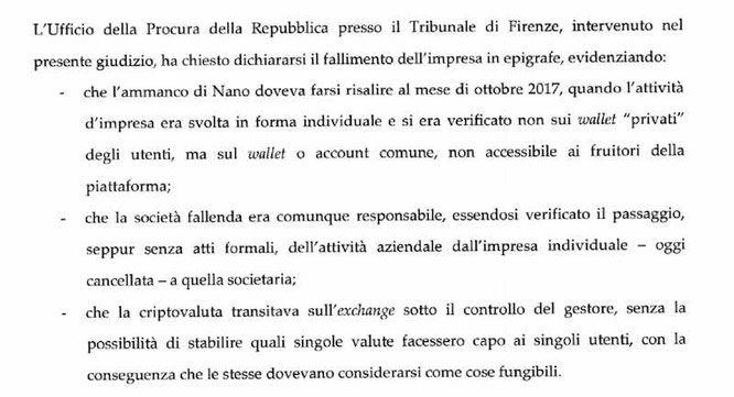 fallimento exchange bitgrail 2019