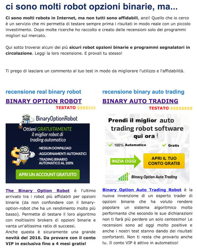 Binary option robot funziona