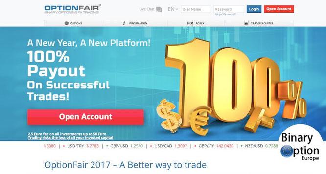 OptionFair recensione e opinioni broker opzioni binarie Forex