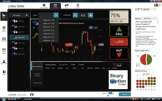 optionweb piattaforma revolution scaricabile trading binario long term