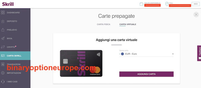 come ordinare la carta virtuale mastercard prepagata skrill
