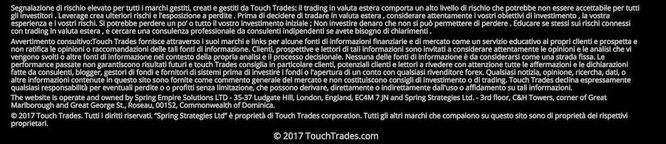 touchtrades no regolamentazione europea italiana 2017