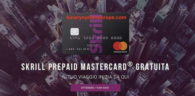 skrill carta prepagata mastercard gratis come funziona