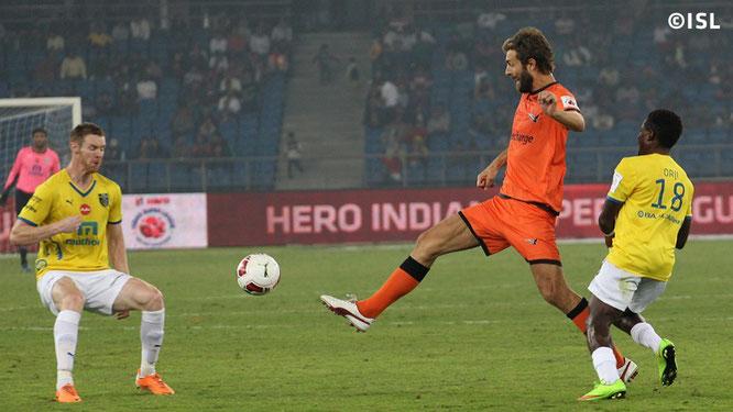Morten Skoubo jugando con el Delhi Dynamos, su último equipo. Foto: www.indiansuperleague.com