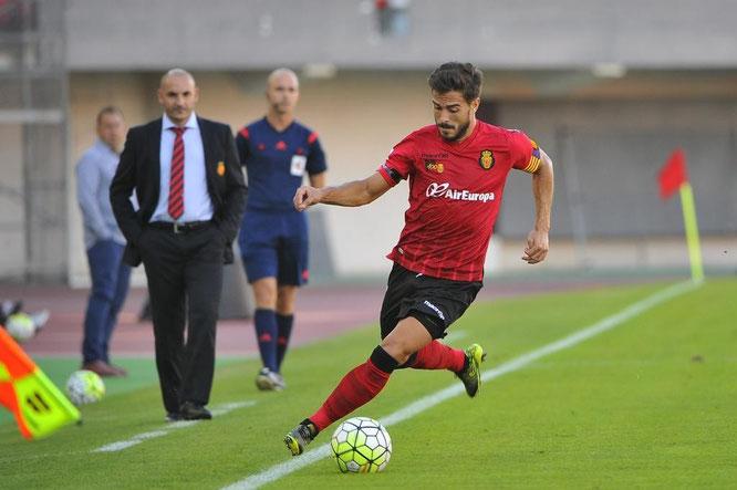 Javi Ros, durante un partido con el Mallorca esta temporada. Foto: ultimahora.es