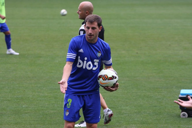 Julen Castañeda, con su último equipo, la Ponferradina. Foto: www.bierzodeportes.com