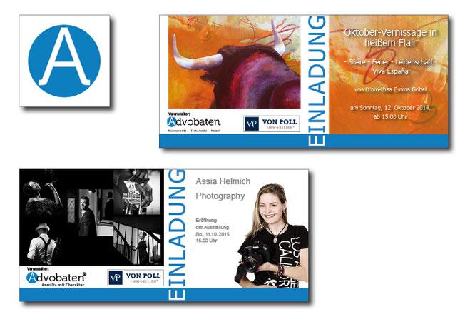 Logo gestalten lassen, Einladungskarten vom Profi, Petra Kress Grafikdesign Frankfurt