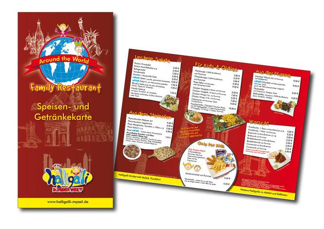 Speisekarten gestalten lassen, Speisekarten in allen Formaten gestalten lassen, Grafikbuero Petra Kress