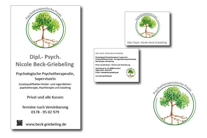 Geschäftsausstattung vom Grafikdesigner, Geschäftsausstattung gestalten lassen, Petra Kress Grafikbuero Frankfurt