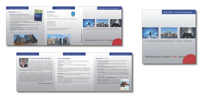 Quadratische Faltblätter gestalten lassen, hochwertige Faltblattgestaltung, Petra Kress Grafikdesign