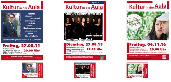 Plakate gestalten lassen, Hohlkammerplakate gestalten lassen, Petra Kress Grafikbuero Frankfurt