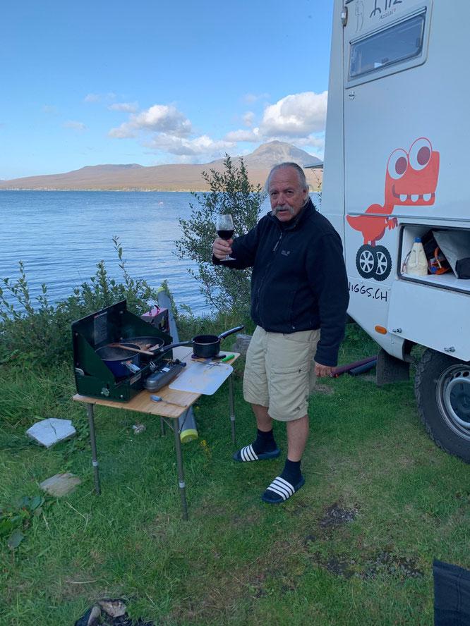 Unser Camp auf Islay direckt neben der Bunnahabhain Distillery