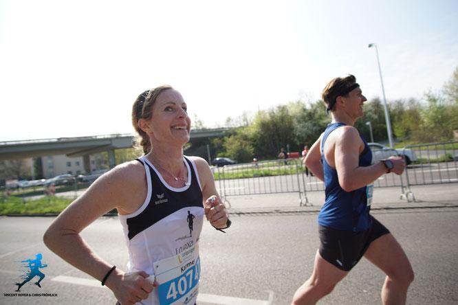 Karmen und Basti beim Marathon