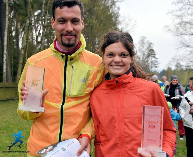© Veranstalter; ich mit Karo, ebenfalls Siegerin über die 10 km