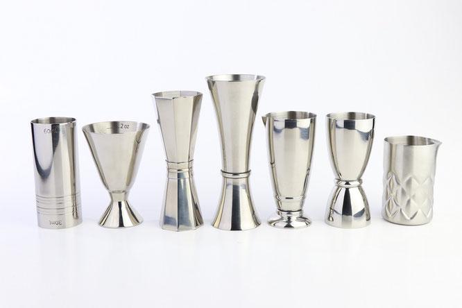 oncera utensilios de cocteleria jigger para bartender mixologia