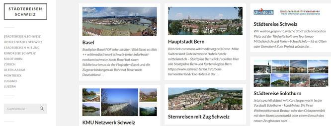 Städtereisen Schweiz