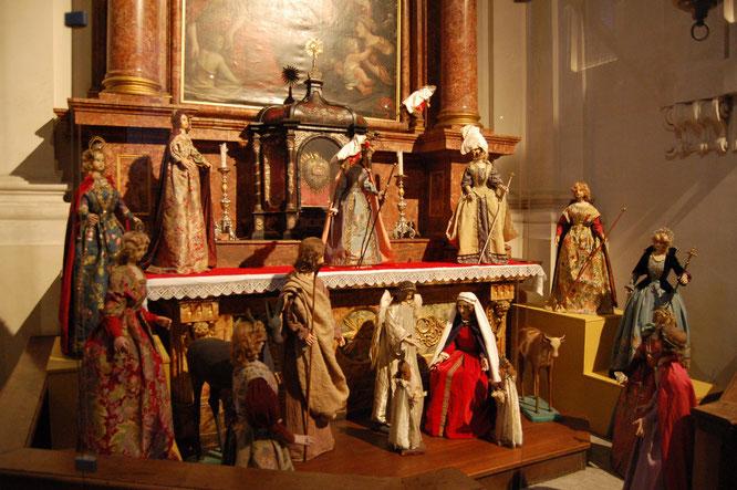 Krippe des Mueseums Blumenstein in der Jesuitenkirche zur Weihnachtszeit