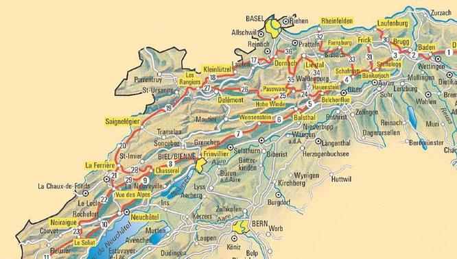 Wanderkarte Jura