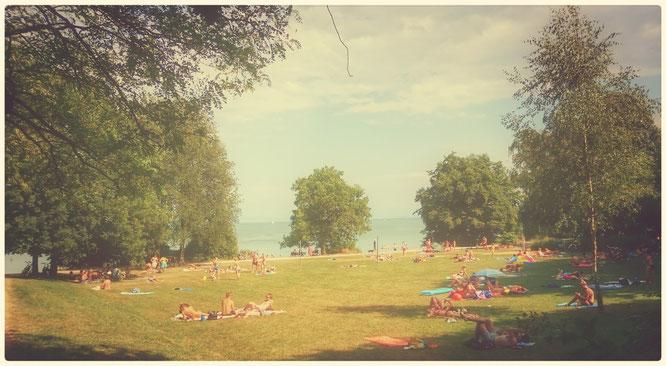 Blick auf den Hoerlepark in Konstanz