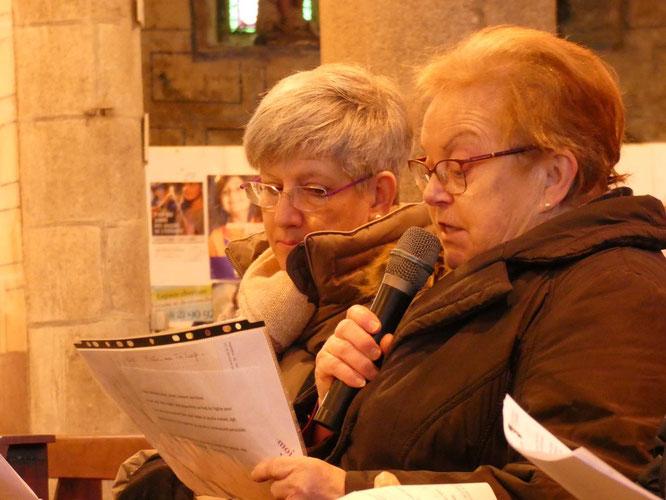 En guise de mot de fin, Denise, du SEM, a lu une prière, à porter par delà la journée, et par delà les murs de l'église.