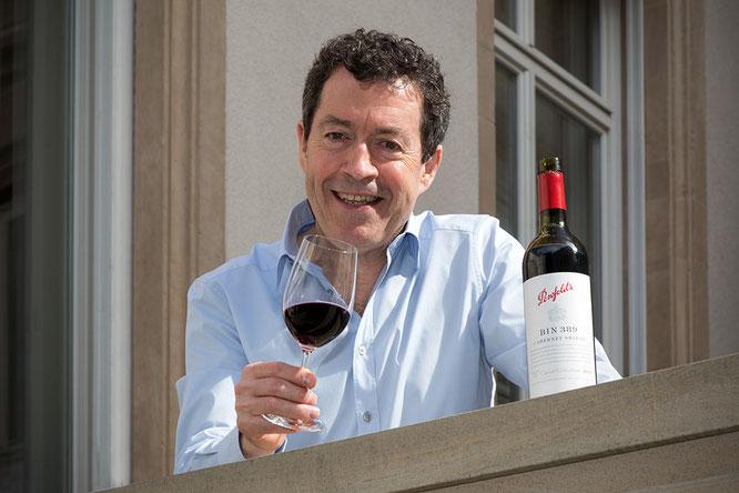 Chief-Winemaker Peter Gago freut sich über die neue  Penfolds Collection   © Gerhard Scheitza - evinum GmbH