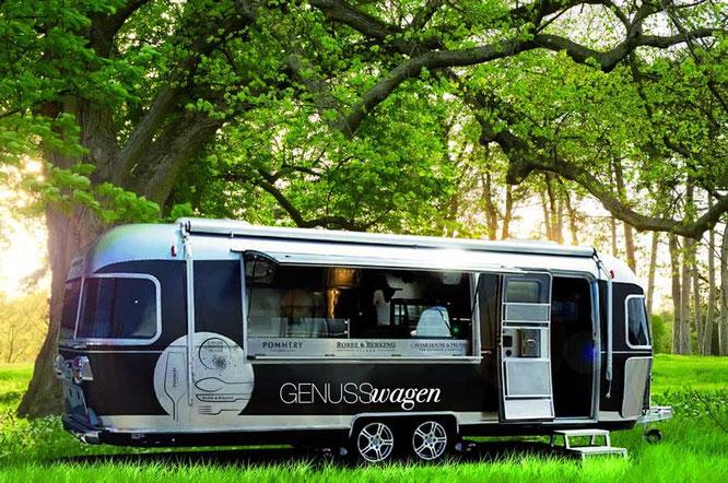 Der GENUSSwagen möchte Deutschlands Street Food Kultur ein bisschen luxuriöser gestalten und Genuss gebührend zelebrieren. Foto ©GENUSSwagen.com
