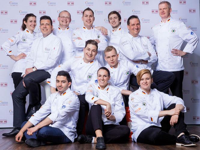 Die Jugendnationalmannschaft der Köche trainiert im Nestlé Professional Service Center.  Foto: Nestlé Professional