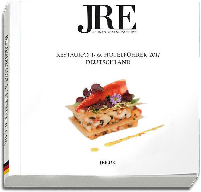 Guide 2017: Der Restaurant- und Hotelführer der Jeunes Restaurateurs informiert über die jungen Spitzenköche und ihre Häuser, die Vereinigung sowie über die gemeinsamen Projekte. ©Jeunes Restaurateurs