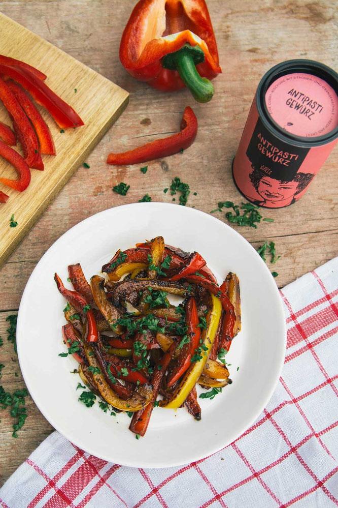 Gebratene Paprika mit Balsamico Essig ©Just Spices