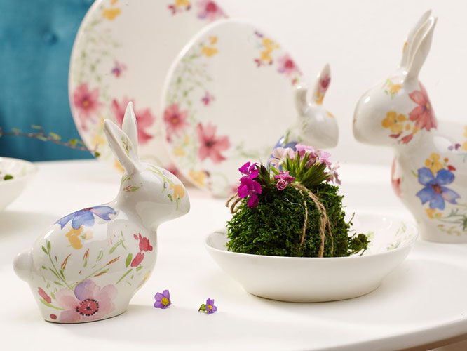 "Serie Mariefleur Spring unter dem Motto ""It's all about the bunny""    Foto: ©Villeroy & Boch"