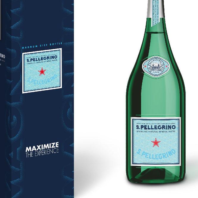 Die Magnumflasche für den feinen Tisch ©S.Pellegrino