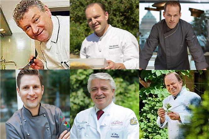 Die hochkarätige Jury hat entschieden. (v.o.l.) Heinz O. Wehmann, Erik Schröter, Tristan Brandt , Michael Kempf, Guido Fritz, Heinz Winkler. ©highfood