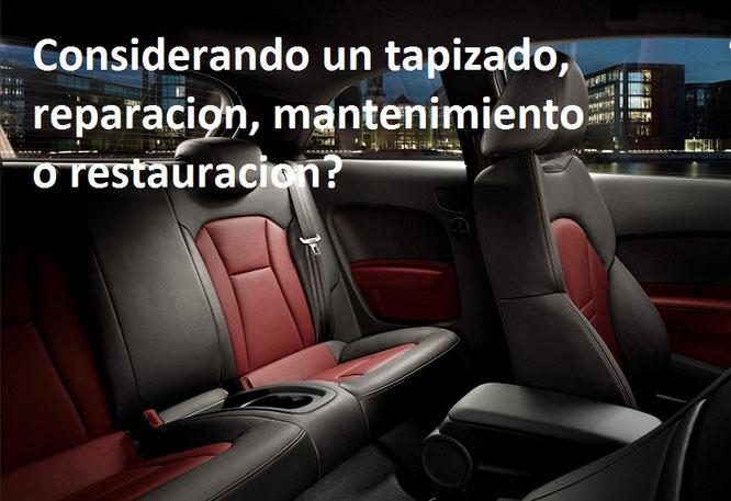 Auto cueros autocueros tapiceria en cuero cojineria en for Tapiceria para coches en zaragoza