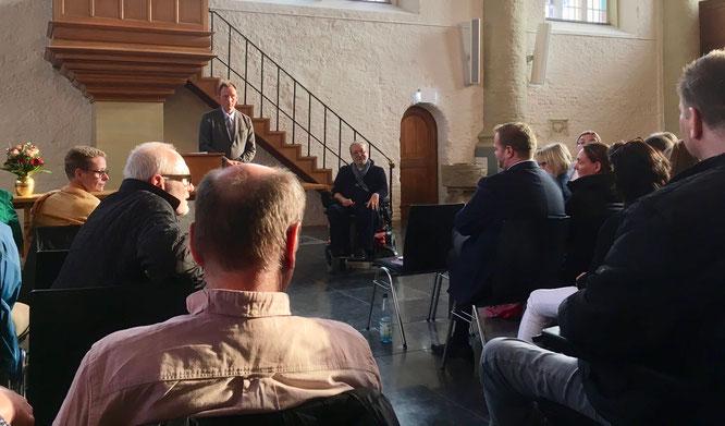 Prof. Dr. Knut Tielking und Christian Züchner in der Neuen Kirche