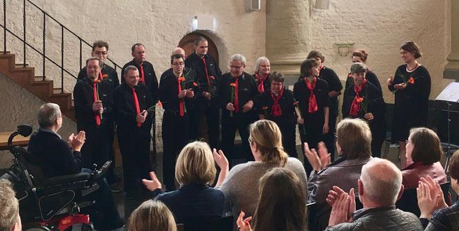 Der Chor TonArt der OBW zur Eröffnung der Teilhabewochen