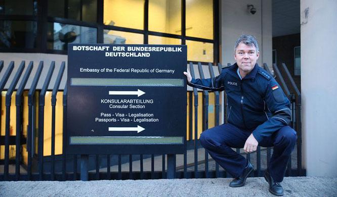 Bundespolizist Peter Hoffmann aus Rilchingen-Hanweiler arbeitete bereits in vielen Ländern der Welt und ist zur Zeit in der Deutschen Botschaft in London stationiert.