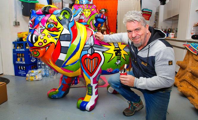 Michael Becker bringt bei einem Saarbrücker Löwen neue Farbe ins Spiel.