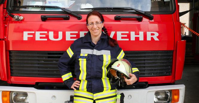 Für Melanie Faas aus Bliesransbach ist die Feuerwehr das Hobby Nummer eins.
