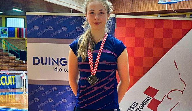 Karina Karmann brachte aus Zagreb einen Titel mit.