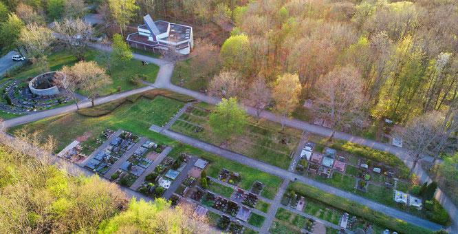 Der Waldfriedhof in Kleinblittersdorf.