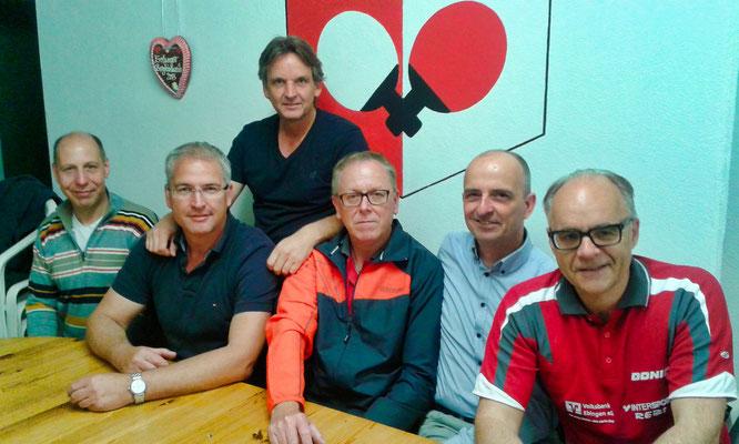 Hobbygruppe 2020  v.l.: Michael Birster, Michael Bähr, Peter Wolf(hi.)Detlef Breier, Jürgen Wiemer, Markus Bur.