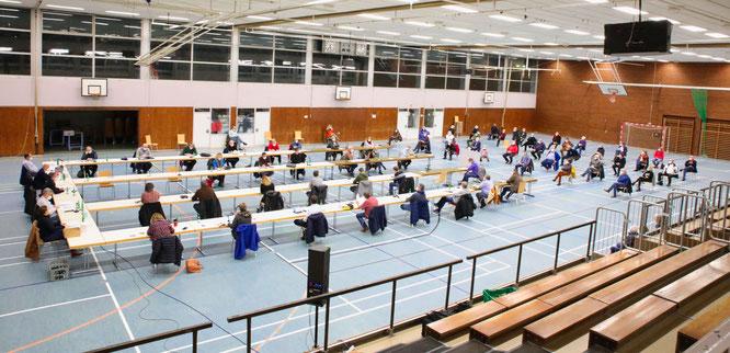 Am Donnerstagabend tagte der Gemeinderat in der Spiel- und Sporthalle in Kleinblittersdorf.